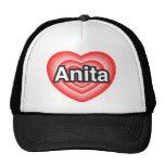 Amo a Anita. Te amo Anita. Corazón Gorro