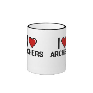 Amo a Archers Taza A Dos Colores