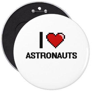 Amo a astronautas chapa redonda 15 cm