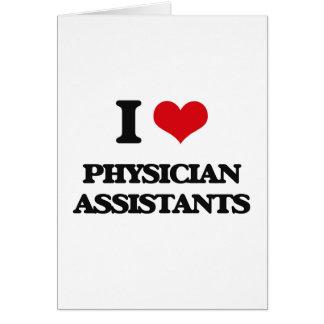Amo a ayudantes del médico tarjeta