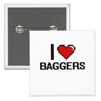 Amo a Baggers Chapa Cuadrada 5 Cm