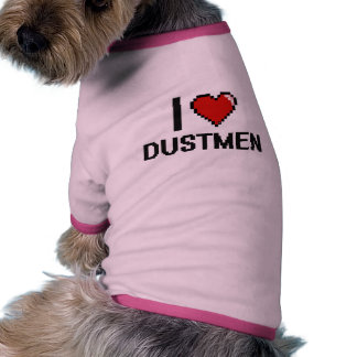 Amo a basureros camiseta con mangas para perro
