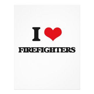 Amo a bomberos tarjetas informativas