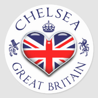 Amo a Chelsea Pegatina Redonda