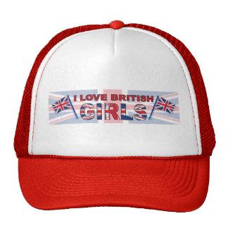 Amo a chicas británicos gorro de camionero