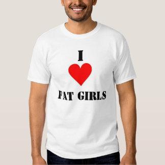 Amo a chicas gordos camisetas