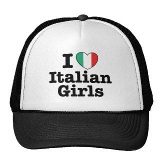 Amo a chicas italianos gorro
