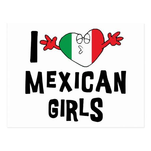 Amo a chicas mexicanos postales