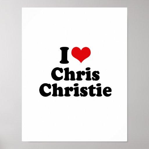 AMO A CHRISTIE DE CHRIS POSTER
