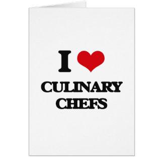 Amo a cocineros culinarios tarjeton