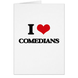 Amo a cómicos tarjeta de felicitación