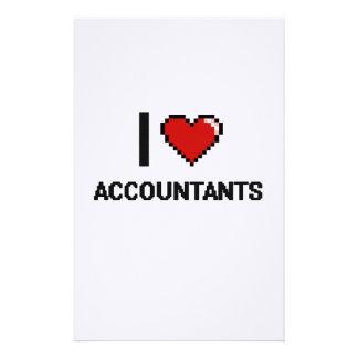 Amo a contables papeleria de diseño