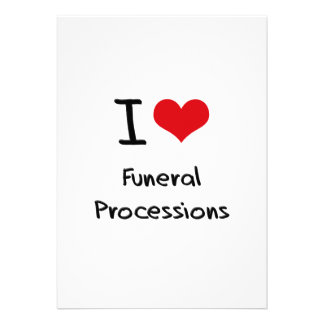 Amo a cortejos fúnebres comunicado personalizado