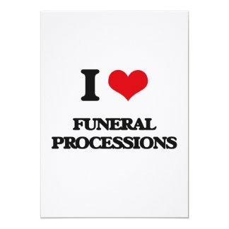 Amo a cortejos fúnebres invitación 12,7 x 17,8 cm