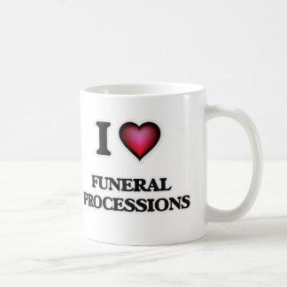 Amo a cortejos fúnebres taza de café