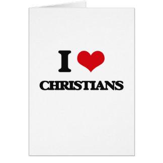 Amo a cristianos tarjeta de felicitación
