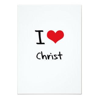 Amo a Cristo Invitación 12,7 X 17,8 Cm