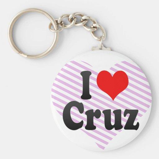 Amo a Cruz Llavero Personalizado