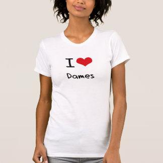Amo a damas camiseta