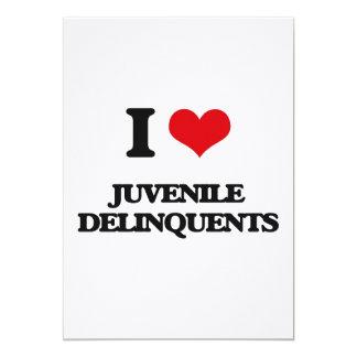 Amo a delincuentes juveniles invitación 12,7 x 17,8 cm
