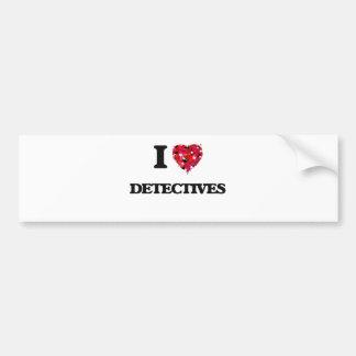 Amo a detectives pegatina para coche