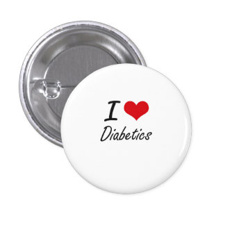 Amo a diabéticos chapa redonda 2,5 cm