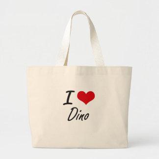 Amo a Dino Bolsa Tela Grande