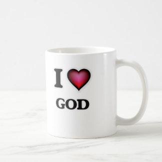 Amo a dios taza de café