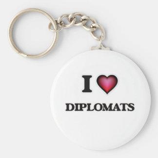 Amo a diplomáticos llavero