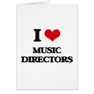 Amo a directores musicales tarjeta de felicitación