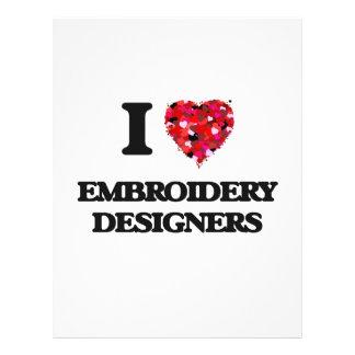 Amo a diseñadores del bordado folleto 21,6 x 28 cm