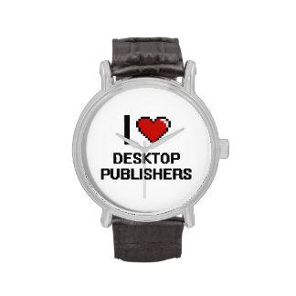 Amo a editores de escritorio relojes