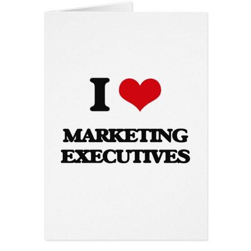 Amo a ejecutivos de marketing tarjetón