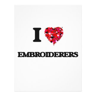 Amo a Embroiderers Folleto 21,6 X 28 Cm
