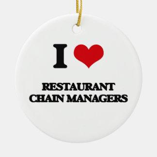 Amo a encargados de la cadena de restaurantes adorno de reyes