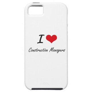 Amo a encargados de la construcción iPhone 5 cobertura
