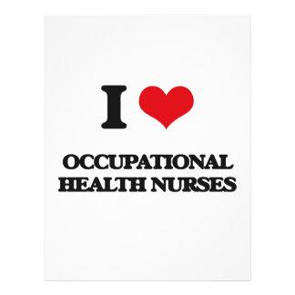 Amo a enfermeras de medicina del trabajo tarjetones