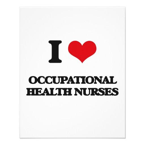 Amo a enfermeras de medicina del trabajo tarjetas informativas