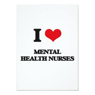 Amo a enfermeras de salud mental invitación 12,7 x 17,8 cm