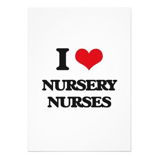 Amo a enfermeras del cuarto de niños comunicados