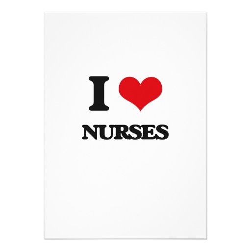 Amo a enfermeras anuncios