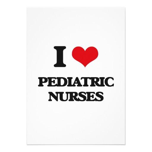 Amo a enfermeras pediátricas comunicados personalizados