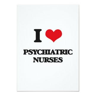 Amo a enfermeras psiquiátricas invitación 12,7 x 17,8 cm