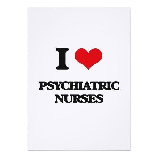 Amo a enfermeras psiquiátricas invitacion personalizada