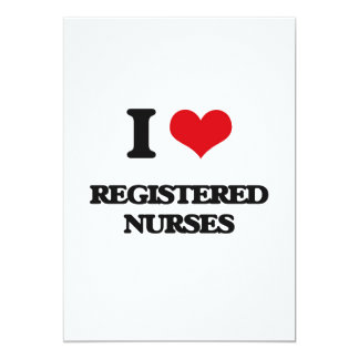 Amo a enfermeras registradoas invitación 12,7 x 17,8 cm