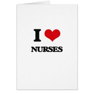 Amo a enfermeras felicitacion