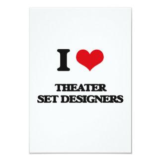 Amo a escenógrafos del teatro invitación 8,9 x 12,7 cm