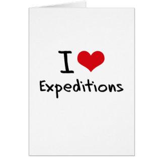 Amo a expediciones felicitación