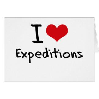 Amo a expediciones tarjetas