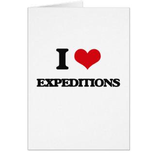 Amo a EXPEDICIONES Tarjeta De Felicitación